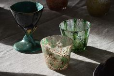 ©Gosha Nagashima, hand build pottery and hand painted glasses