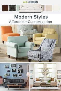 At AllModern we try to give you the best selection possible in modern styles, and that means we don't think you should have to settle on buying that perfect couch in that not-perfect color or print. Shop now and explore our custom upholstery selection – all your favorite styles with more options than ever. Visit AllModern today and sign up for exclusive access to deals for your modern home. Free shipping on orders over $49!