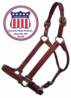 9603Congress Leather Show Blank Halters