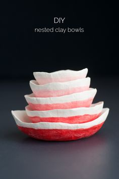 Nested Clay Bowls -
