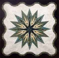 Vintage Compass, Quiltworx.com, Made by CI Mary Wakeley