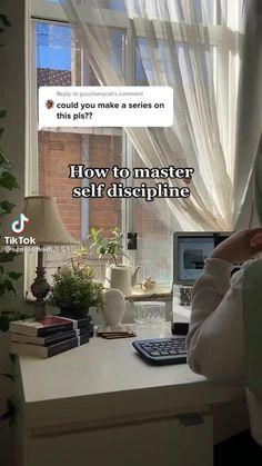 Life Hacks For School, School Study Tips, School Motivation, Study Motivation, Get My Life Together, Self Care Activities, Self Discipline, Study Inspiration, Self Improvement Tips