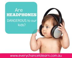 Are headphones bad for kids' ears ? Dr Kristy Goodwin explains that headphone-use may be bad for children's ears, if not used appropriately. Our Kids, Over Ear Headphones, Ears, Digital, Children, Health, Young Children, Boys, In Ear Headphones