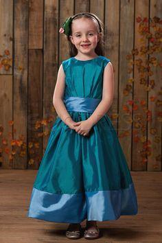 Cute A-line Scoop Tea-length Sash Flower Girl Dress Flower Girl Party Dresses - ericdress.com 10415580