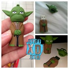 Yoda Pen Drive Christmas Ornaments, Cool Stuff, Holiday Decor, Home Decor, Decoration Home, Room Decor, Christmas Jewelry, Christmas Decorations, Home Interior Design