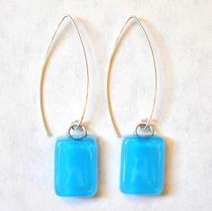Charlotte Potter Fused Glass Earrings on JoEllenDesigns.com