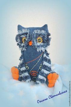 Jeans Owl / Игрушки животные, ручной работы. Ярмарка Мастеров - ручная работа…