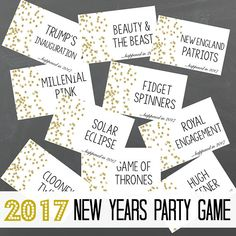 Instant Download Printable New Years Game  New Years Eve Game Nye Games  Highlights