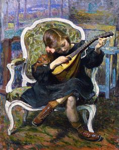 The LIttle Mandolin Player (Marthe Lebasque) Henri Lebasque - 1905