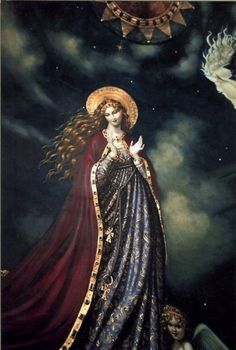 This is a fantastic Marian painting. Has a very regal feel to it.
