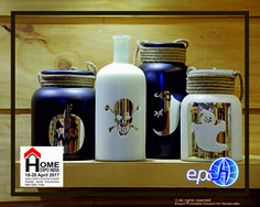 Trick or Treat! Ghost mason jars and goodie jars.....festive decor & accessories at Home Expo India. #FestiveDecor #HomeExpo #TradeShow