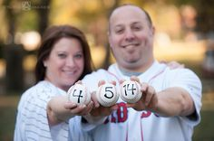 Sports-themed engagement session, Red Sox, Yankees    Hoboken Engagement Photos   Studio A Images