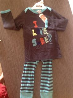 """Sleepy PJ's for the little one!  Size 2   Just $23.00  Maybe if they wear them they will start to believe them!!   """"I Love Sleep"""""""