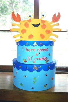 Baby Shower Cardbox 2012 Last Name Crabbe(hence Cute Lil Crab Theme)