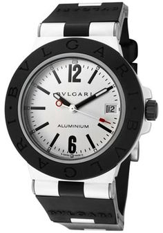 Bulgari AL38TAVD/SLN Men's Diagono Aluminum Mechanical/Automatic Off White Dial Black Rubbe http://www.originalwatchstore.com/brand/bulgari/