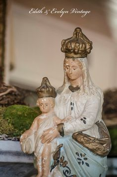 Rare Lg Antique French Our Lady of Victory by edithandevelyn