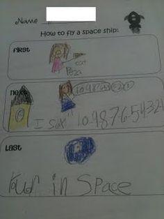 How to fly a spaceship, cute ideas