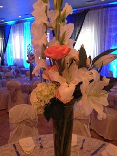 Reception centerpiece at Grbic Banquet hall