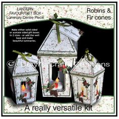 - These versatile kits allow you to make either solid sided or acetate sided gift boxes in two sizes. The smaller box is an i. Craft Projects, Projects To Try, Craft Ideas, Favor Boxes, Gift Boxes, Fun Crafts, Paper Crafts, Centre Pieces, Small Boxes