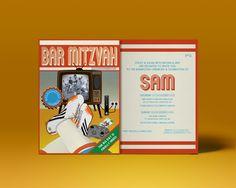 Sam's Bar Mitzvah invite #bespoke #personalized #unique #personalised #barmitzvah #13years #football #party #retro #xbox #footballboots #party #barmitzvahs #houseofdb #houseofdbdesign #arsenal #adidas #graphicdesign #illustration