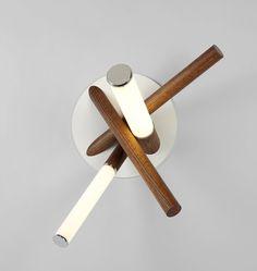 Mini Farrago Sconce (Polished nickel/Stained oak)
