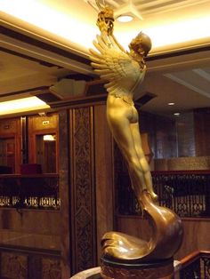 Art Deco Hotel, Art Deco Design, Original Art, Statue, Sculpture