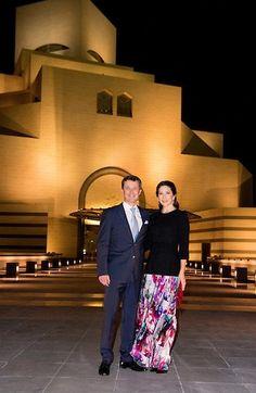 2016--Princess Mary and Prince Frederik visits Doha Museum of Islamic Arts