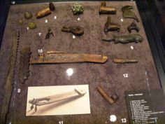 Slavic accessories from the museum in Opole, Poland.
