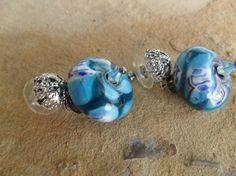 Italian Glass Bead and Silver Handmade Dangle by BaublesAbode, $15.00
