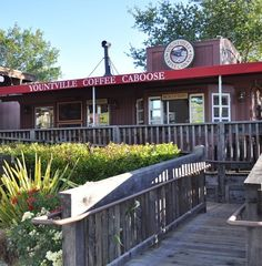 When in Napa...yountville coffee caboose