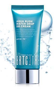 BRTC Aqua Rush Waterdrop BB Cream. Unique BB Cream with a light and soft texture that feels like a moisturizer for dry and combined skin.