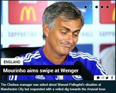 Mourinho jibe on Arsene-WENGER