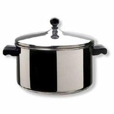 Farberware Cookware-Fw 6-Quart Stock Pot With Lid by Diamond. $35.99. This large 8qt stockpot is ideal for simmering soups, stews, or chili.. Farberware Classic series 6-Quart Covered Stockpot... 'Full Cap' Base Advantage - Now a stainless steel protector surrounds a thicker aluminum core for easy maintenance and better heat distribution. Since the entire surface is stainless steel, cleanup is easier. Close fitting lids create a self-basting feature that protects the foo...