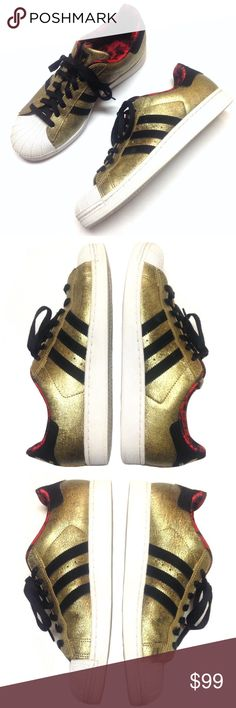 d833bf1fd2 Adidas Superstar II Gold CNY Horse Sneakers Shoes Brand  Adidas Size  Men s  10