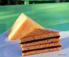 cake sandwich praliné et passion de Cyril Lignac