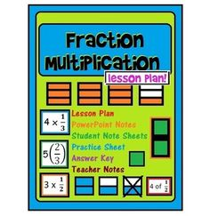 Fraction Multiplication: Lesson Plan, PowerPoint + Answer Key