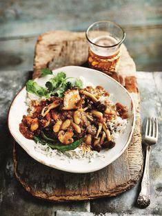 Anjum Anand's Mushroom and Bean Caldine