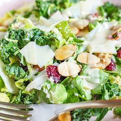 Brussels Sprout and Kale Salad inspired by Blue Door Farm Stand (thekittchen) How To Make Sandwich, How To Make Salad, Tahini Salad Dressing, Braciole Recipe, Easy To Digest Foods, Best Thanksgiving Recipes, Thanksgiving Turkey, Zucchini Ravioli, Kale Salad Recipes