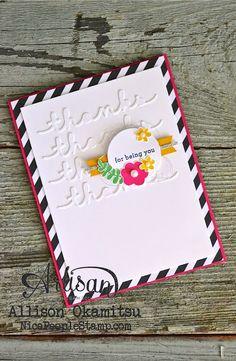 nice people STAMP!: Endless Thanks & Greetings Thinlits Card: Stampin' Up! Artisan Blog Hop