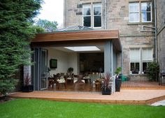 This would look awesome on our new build. Dining room opening into our garden....