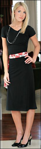 Modest LBD (Little Black Dress) $54.99 http://www.jenclothing.com/mi-3104-black.html