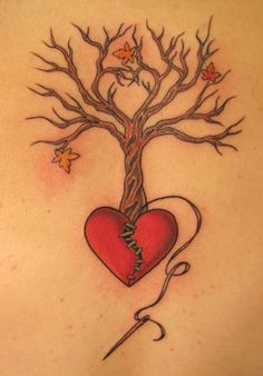 What does broken heart tattoo mean? We have broken heart tattoo ideas, designs, symbolism and we explain the meaning behind the tattoo. Trendy Tattoos, Love Tattoos, Body Art Tattoos, New Tattoos, I Tattoo, Girl Tattoos, Tattoos For Women, Tatoos, Roots Tattoo