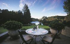 Huka Lodge, New Zealand. Interior Designer: Virginia Fisher Landscape Design: Suzanne Turley Design Concepts Ltd