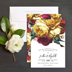 Vintage Rose Garden Wedding Invitation | The Elli Blog