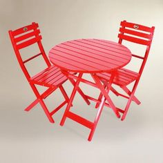 One of my favorite discoveries at WorldMarket.com: Red Wood 3 Piece Outdoor Bistro Set