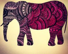 zentangle art color elefantes - Buscar con Google
