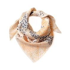 Cotton satin scarf - 'Mountain Blossom by Leah Duncalf'