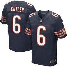 a4478fd70 Men s Nike Chicago Bears  6 Jay Cutler Elite Team Color Blue Jersey  129.99