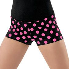 Have some fun in these polka dot print dance shorts with comfortable elastic waist. Limited stock available for black/hot pink color. If there is a size not available, may we suggest Mixed Print Dance Shorts - Dance 4, Dance Wear, Polka Dot Print, Polka Dots, Dance Shorts, A Star Is Born, Pink Color, Hot Pink, Gym Shorts Womens