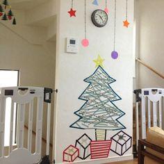 マスキングテープ/手作り/クリスマス雑貨/リビングのインテリア実例 - 2013-11-07 10:25:49 | RoomClip(ルームクリップ)